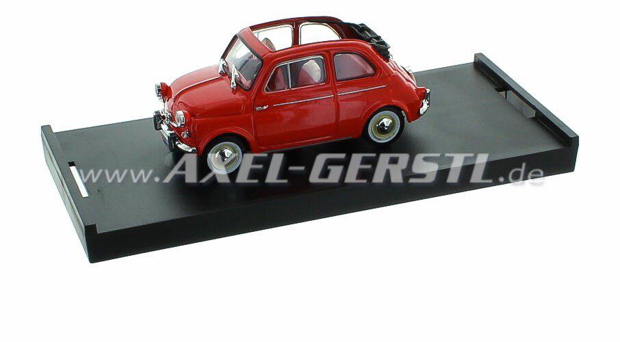 Model Car Brumm Fiat 500 N 1959 1 43 Red Open Fiat 500 N