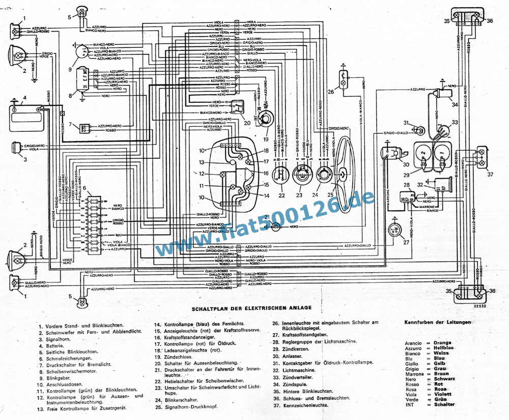 Fiat 500 D Electrical Wiring Diagrams Simple Diagram 1981 Downloads 126 600 Spare Parts Onderdelen Axel Gerstl 1972 Chevelle