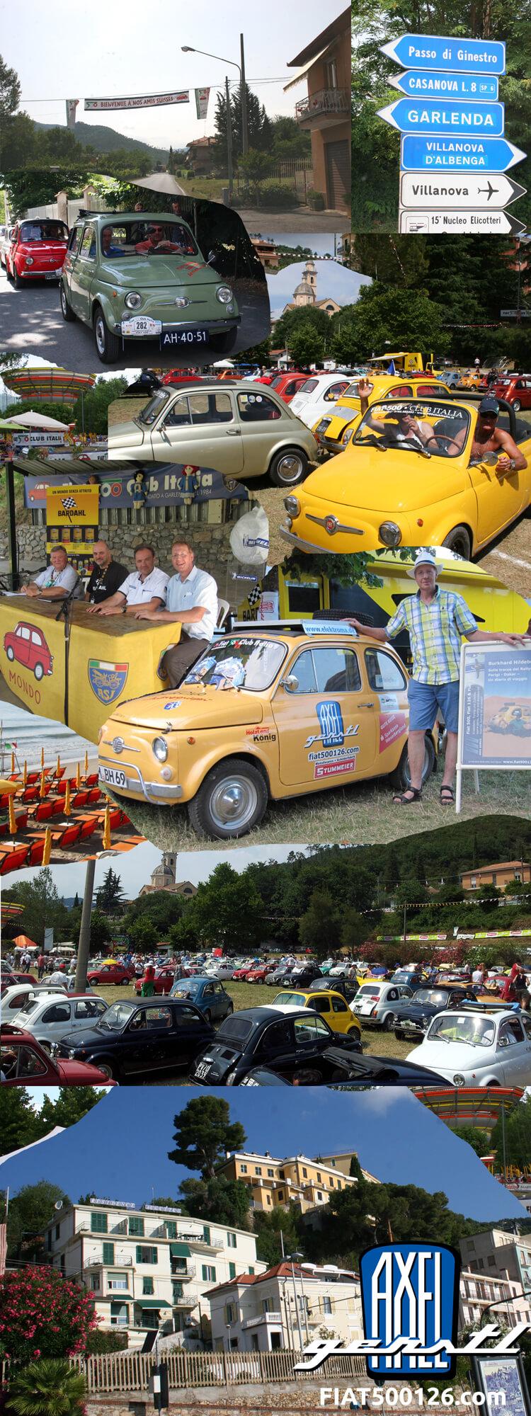 Das 35. internationale Fiat 500-Treffen in Garlenda