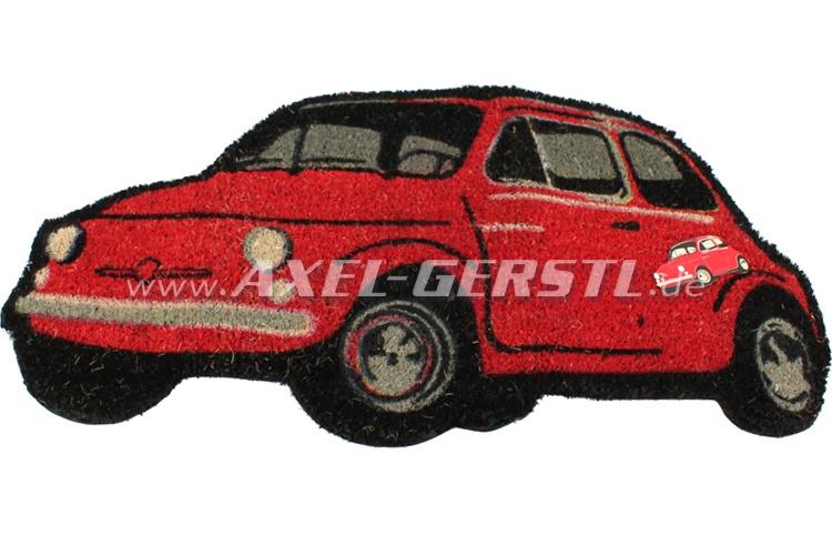 Fußabtreter / Fußmatte, rot, Kokosfaser/PVC, 78 x 39 cm