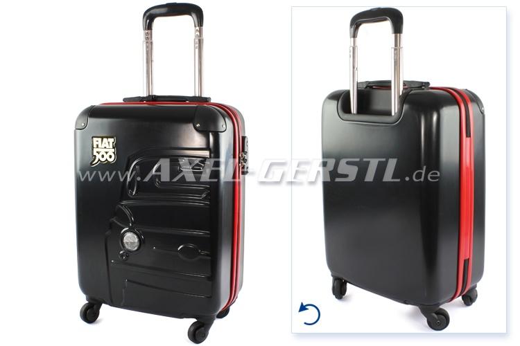 Koffer / Trolley (Reisekoffer m. Rollen) 'Fiat 500', schwarz