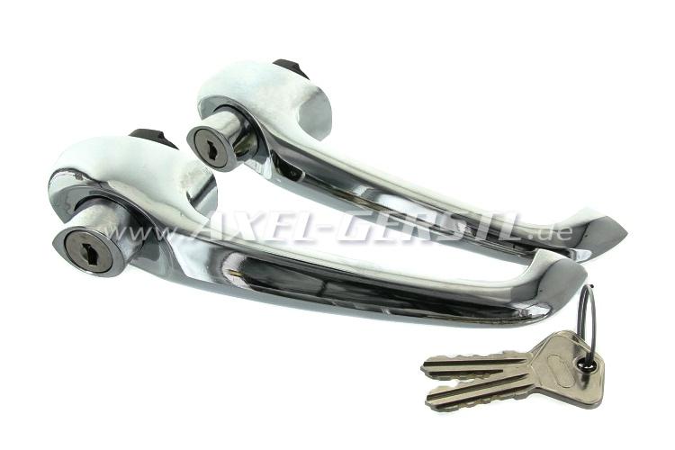 Türgriff/-schloss paarweise kpl. m. Zyl. & Schlüssel Fiat 500 F/L/R