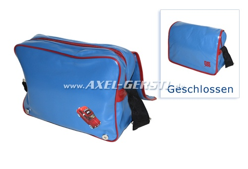 Tasche / Umhängetasche, Motiv Fiat 500 blau