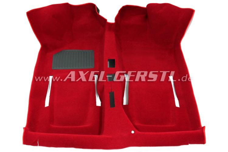 Teppichboden rot komplett, A-Qualität Fiat 500 F/L/R (500 N/D/126)