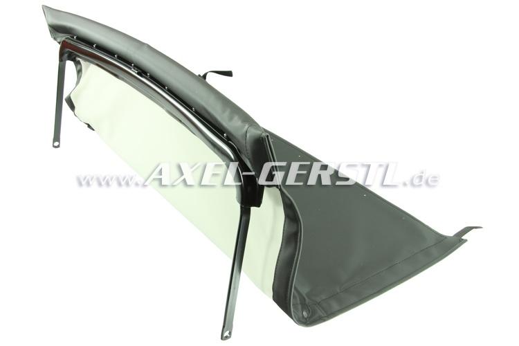 Verdeck inkl. vorderem Bügel & mittlerer Stange, schwarz Fiat 500 F/L/R