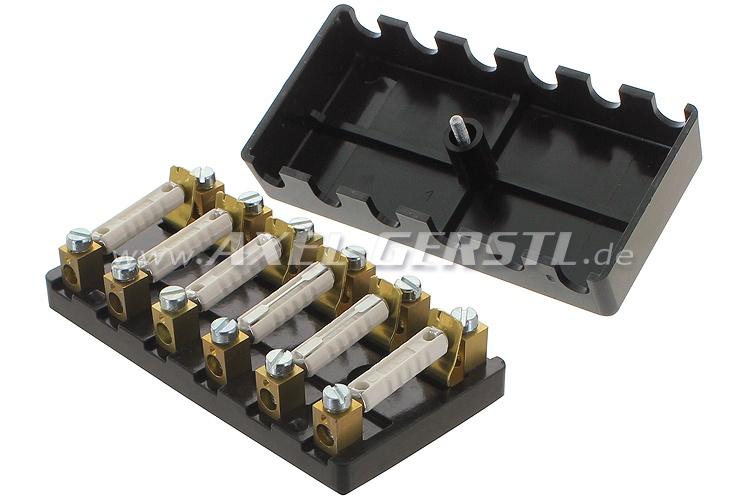 Sicherungskasten, mit Schraubverschluß (6 Sicherungen) Fiat 500 N/D/F 1.Serie/500 D-Giardiniera/600 D-Multipla-E