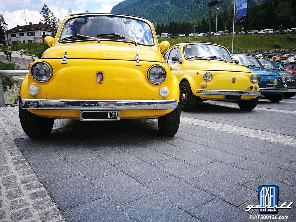 Mit einem Fiat 500 auf die Zugspitze und zurück
