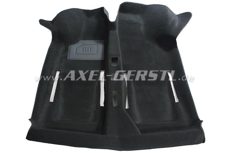 Teppichboden sw. Schlinge, 1 Absatzschoner / Orig.-Qualität Fiat 500 F/L/R