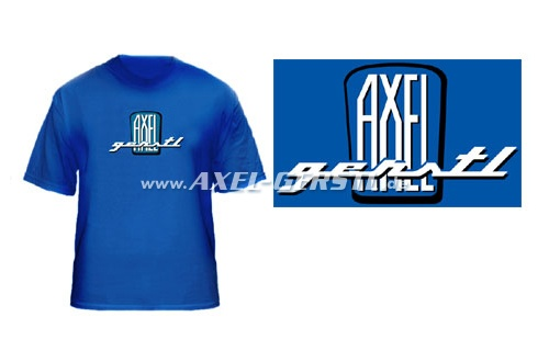 T-Shirt, Motiv 'Axel Gerstl Classic Logo' (blaues Shirt)
