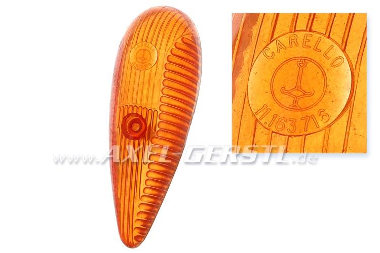 Turn signal (on the side), orange, brand CARELLO Fiat 500 N