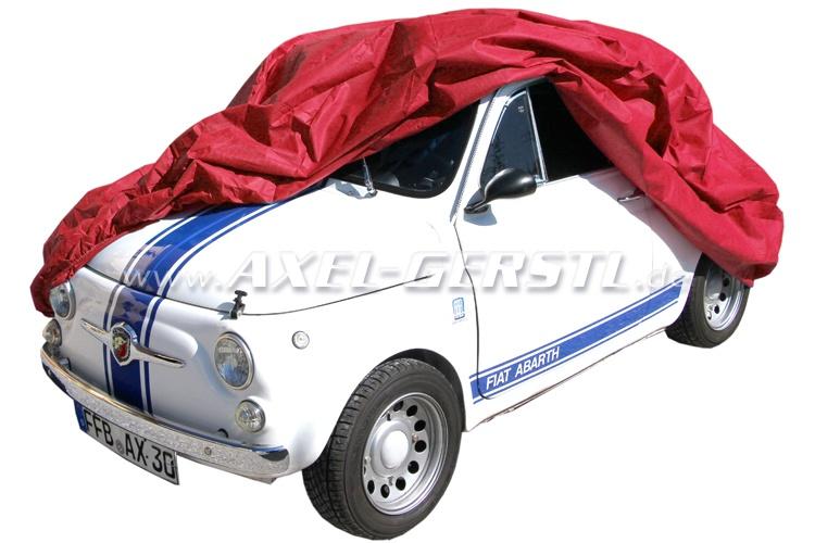 Pelerine / Ganzgarage Puff Vlies, rot Fiat 500/126