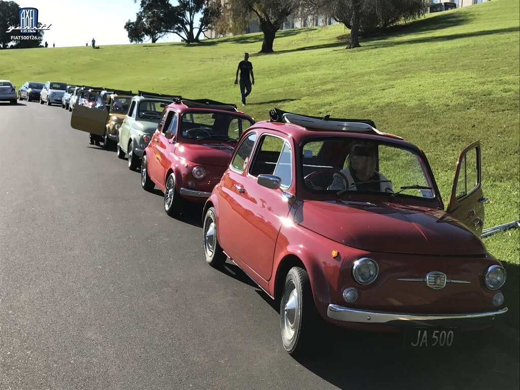 Fiat 500 World Wide Meeting in Neuseeland