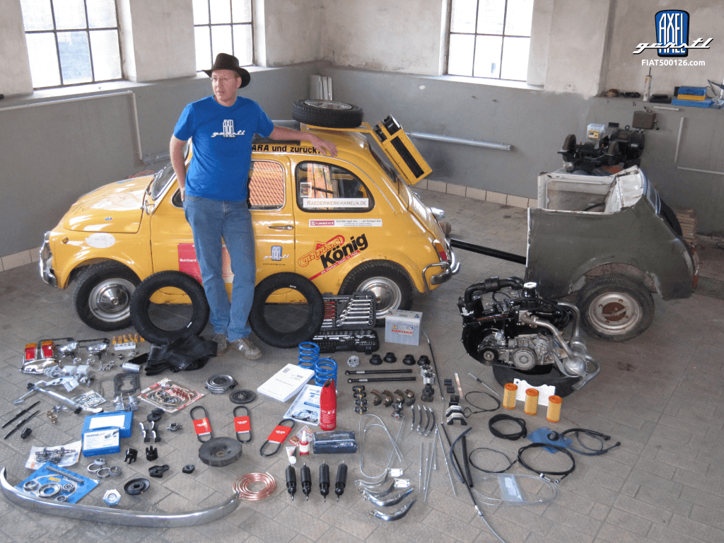Cost schedule for Fiat 500 repairs