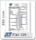 Data sheet for Fiat 126 with 650ccm