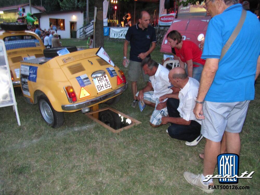 Garlenda 2015: Burkhard zu Gast auf dem weltgrößten Fiat 500-Treffen