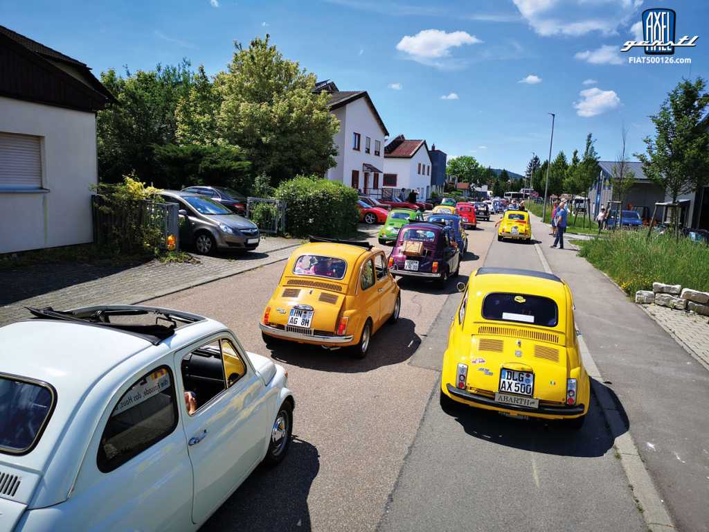 Fiat 500 Treffen in Fellbach