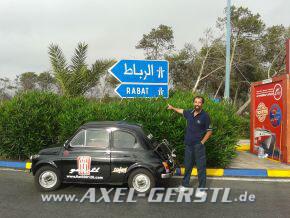 Von Rom nach Ad-Dahkla in der Westsahara in einem Fiat 500