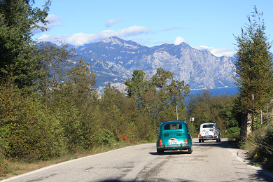 Auf eigener Achse mit dem Cinquecento von Nordhessen zum Gardasee im Oktober 2012