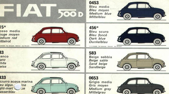 Fiat 500 oldtimer and Fiat 126 facts and figures