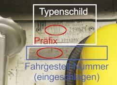 Typenschild & Fahrgestellnummer Fiat 500 Oldtimer