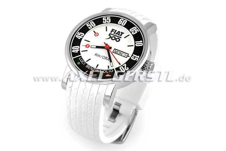 Orologio Fiat 500 contachilometri, bianco