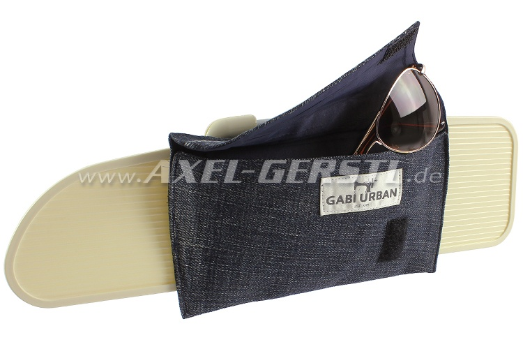 Spectacle case for sun visor Jeans