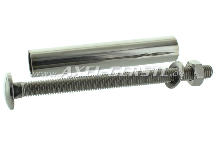 Screw for rear bumper, incl. sleeve and nut, chrome