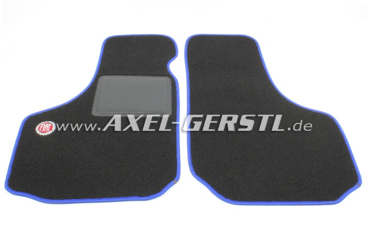 Set of foot mats Fiat (blue/black) with logo, small