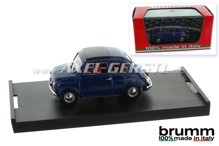Model car Brumm Fiat 500 F, 1:43, oriental blue / closed