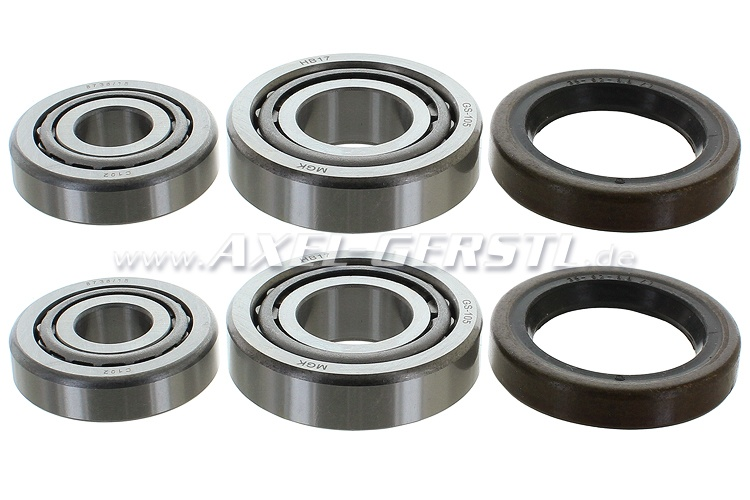 Set of front wheel bearings, for 2 sides