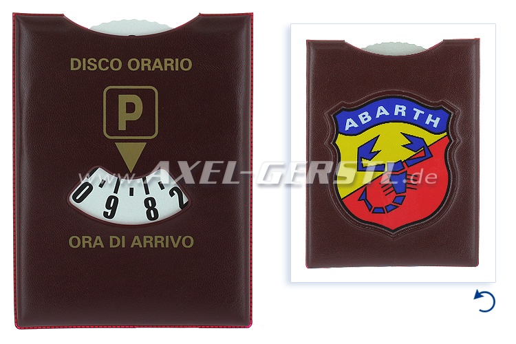 Parking disc 115 x 165 mm (brown), Abarth coat of arms