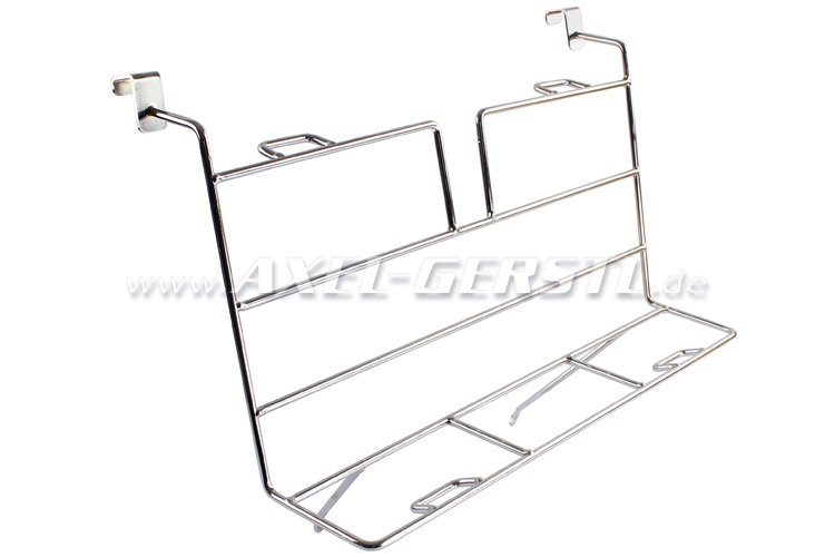 Luggage rack for engine lid, chrome