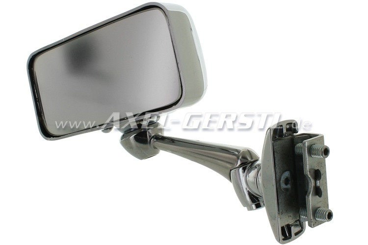 Ext. mirror, door rabbet mounting Sport chrome l./r. rect.