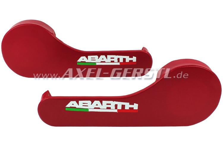 Tasca per mappe con mensola per cassa Abarth, rosso