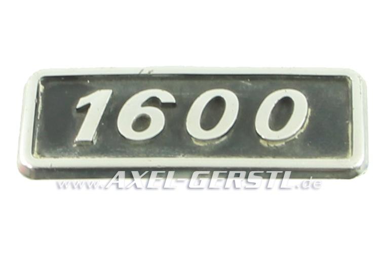 SoPo: Heckemblem / Schriftzug 1600, Metall, gebraucht