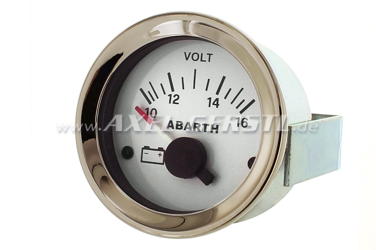 Abarth voltmeter, 52mm, white dial