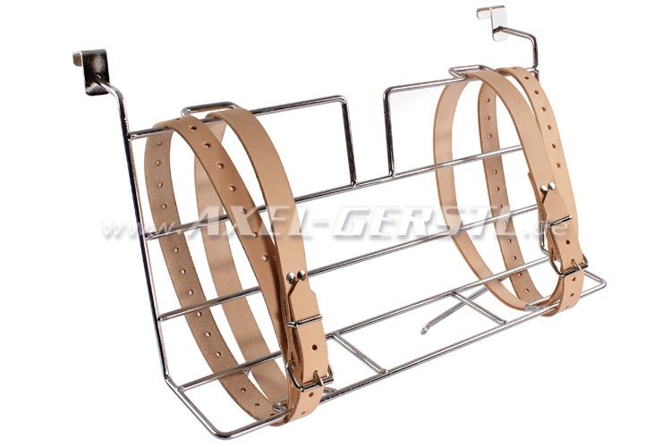 Porte-bagages pour capot, chromé, ceintures inclus