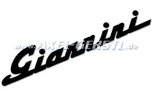 Autocollant Giannini 360 mm, noir