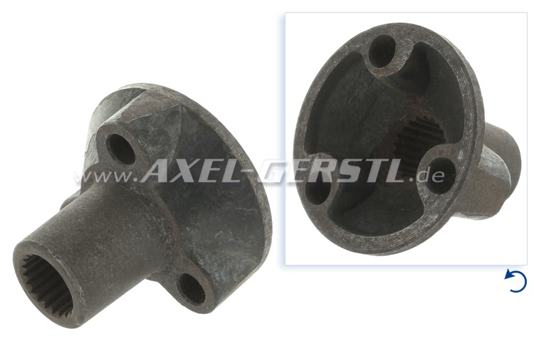 Sliding piece for thin shaft (Diameter of 17 mm), 3 holes
