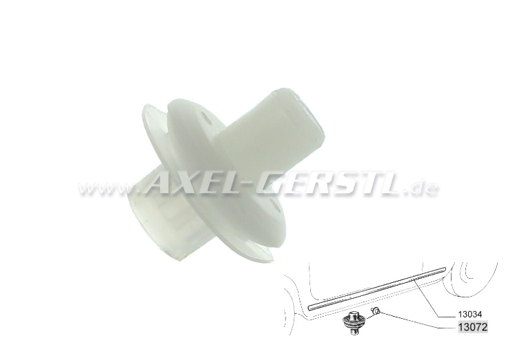 Mounting nipple for sill trim-strip, 8 mm