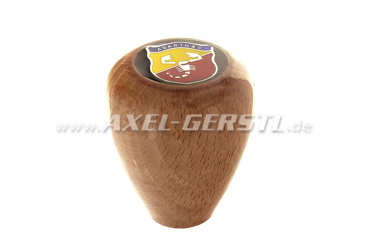 Wooden shift knob Abarth, short
