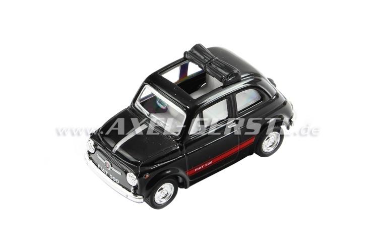 Modello KINTOY Fiat 500, nero 1:48, in metallo