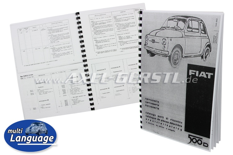 Catalogo ricambi carrozzeria, copiato DIN A5