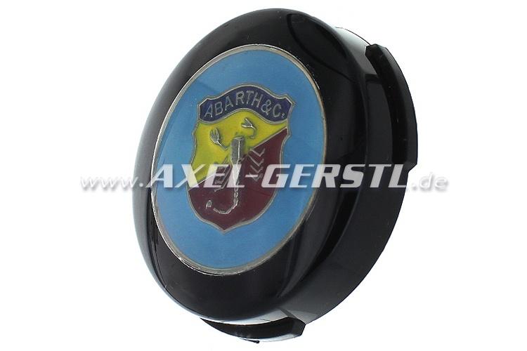 Abarth-Hupknopf-Taster incl. Button (Wappen auf blau)