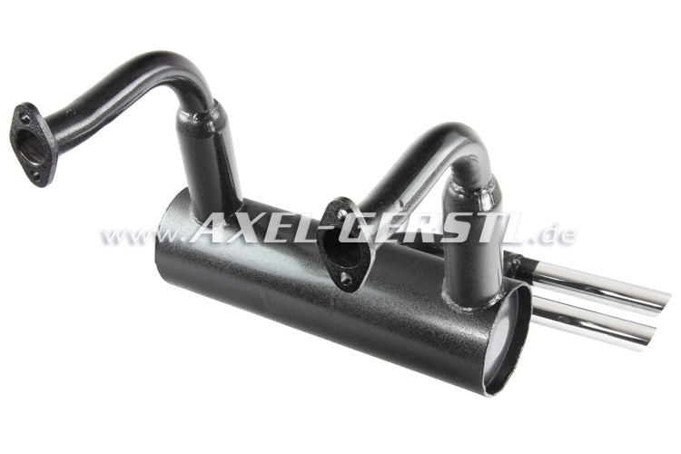 Sport Exhaust Pipe 'record Monza' Double Tailspout Chrome: Fiat 500 Monza Exhaust At Woreks.co