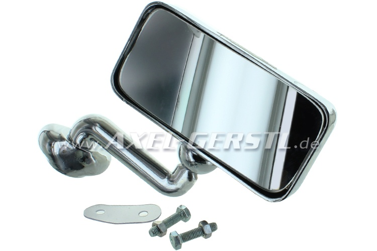 Wing mirror Sport, door mounting r./l., chrome,rectangular