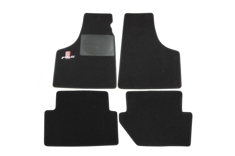 Set of foot mats black with red AXEL GERSTL logo