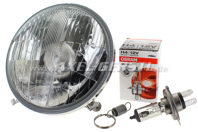 Headlamp H4 without parking light, A-Quality