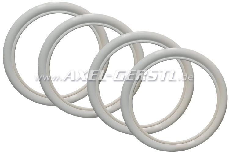 Anneaux d. flancs blancs pour pneus SR/12,  PREMIUM, 4 pc
