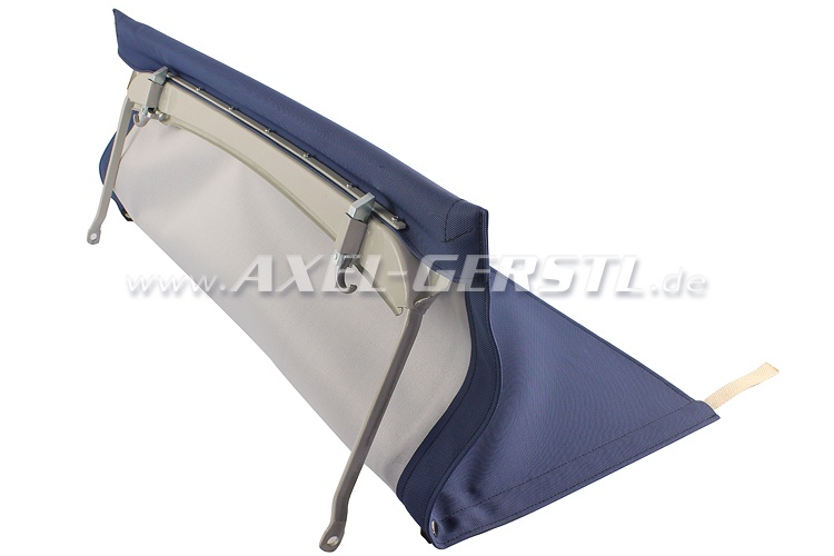 Convertible top with front bow & middle stick (short), blue